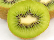 Kiwi fruit sliced segments isolated on white background Stock Photo
