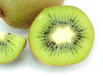 Kiwi fruit sliced segments isolated on white background Royalty Free Stock Images