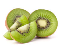Kiwi fruit sliced segments Stock Images