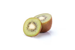 Kiwi fruit sliced segments isolated on white background cutout Royalty Free Stock Photography