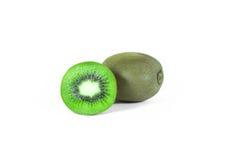 Kiwi fruit sliced segments isolated on white background wi Stock Image