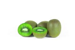 Kiwi fruit sliced segments isolated on white background wi Royalty Free Stock Photos