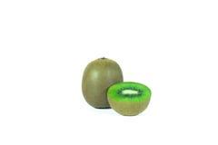 Kiwi fruit sliced segments  on white background wi Stock Photography