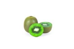 Kiwi fruit sliced segments  on white background wi Royalty Free Stock Image