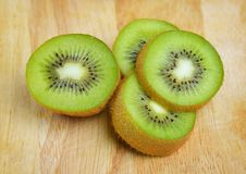 Kiwi fruit sliced segments Royalty Free Stock Image