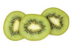 Kiwi fruit sliced on white background Stock Image