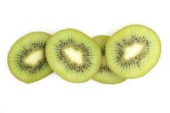 Kiwi fruit sliced on white background Stock Photo