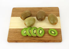 Kiwi Fruit and Slices Royalty Free Stock Images