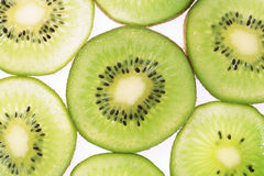 Kiwi fruit slices Stock Photos