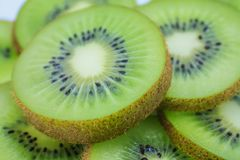 Kiwi fruit slices background Royalty Free Stock Image
