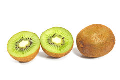 Kiwi fruit and slices Royalty Free Stock Photos