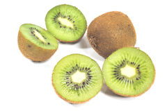 Kiwi fruit and slices Royalty Free Stock Images