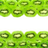 Kiwi fruit slices isolated on a white Royalty Free Stock Image