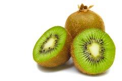Kiwi fruit slices isolated on white background Royalty Free Stock Photos
