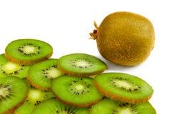 Kiwi fruit slices isolated on white background Royalty Free Stock Images