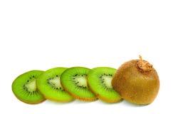 Kiwi fruit slices isolated on white background Stock Photo