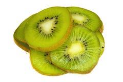 Kiwi fruit slices isolated on white background Royalty Free Stock Photography