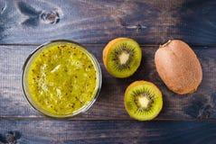 Kiwi Fruit Smoothie Immagine Stock