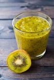 Kiwi Fruit Smoothie Fotografie Stock Libere da Diritti