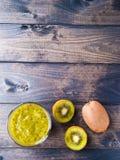 Kiwi Fruit Smoothie Fotografia Stock Libera da Diritti