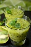Kiwi fruit smoothie Royalty Free Stock Photos