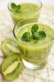 Kiwi fruit smoothie Royalty Free Stock Images
