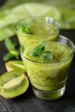 Kiwi fruit smoothie Stock Images