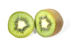 Kiwi fruit stillife isolated on white background healthy nutrition concept Stock Photos