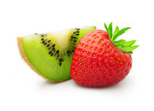 Kiwi fruit and strawberry Stock Photos