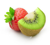 Kiwi fruit and strawberry Royalty Free Stock Image