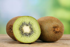 Kiwi fruit in summer with copyspace Stock Photos