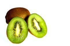 Kiwi,fruit,vitamin,organic. Whole kiwi with kiwi divided into two Royalty Free Stock Photography