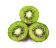 Kiwi fruit on white. Close up of kiwi fruit on white background Stock Image