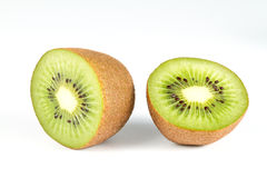 Kiwi fruit on white. stock image