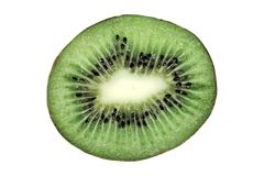 Kiwi Fruit on White Background Stock Photography