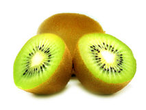 Kiwi fruit on white background Royalty Free Stock Images