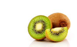 Kiwi fruit  on white background Royalty Free Stock Photos