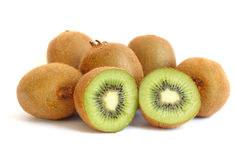 Kiwi fruit on white background Royalty Free Stock Photo