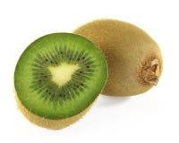 Kiwi fruit. At the white background Stock Photo