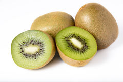 Kiwi fruit on white Royalty Free Stock Images