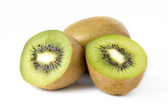 Kiwi fruit on white Stock Images