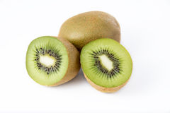 Kiwi fruit. On white background Stock Image