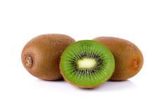 Kiwi fruit  on a white background Stock Images
