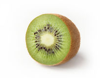 Kiwi fruit on white background. Half of ripe juicy kiwi fruit on white background Royalty Free Stock Photo