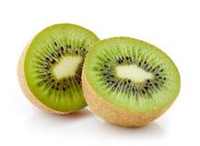 Kiwi fruit on white background Stock Photos