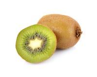 Kiwi fruit  on white background, macro Stock Photo