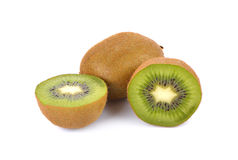 Kiwi fruit  on white background, macro Stock Image