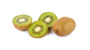 Kiwi fruit  on white background, macro Stock Photography