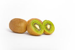 Kiwi fruit  on white background. Macro Stock Photo