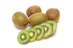 Kiwi fruit in a white background Stock Image